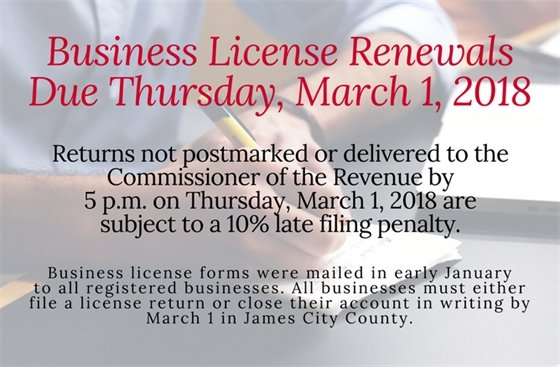 Business License Renewals