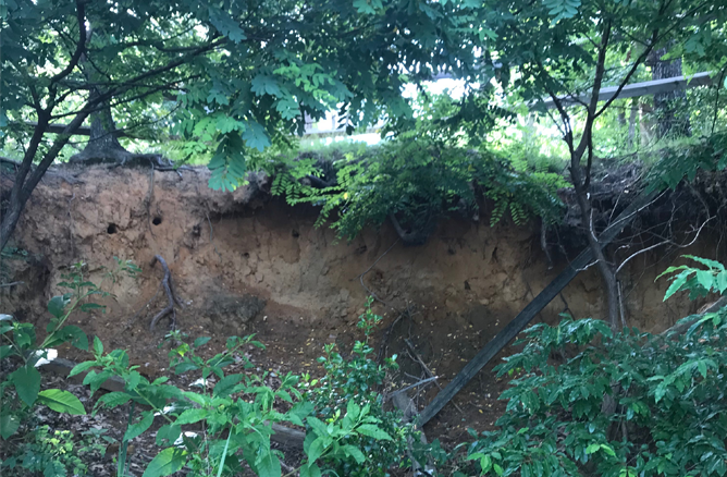 Erosion at Chickahominy Riverfront Park
