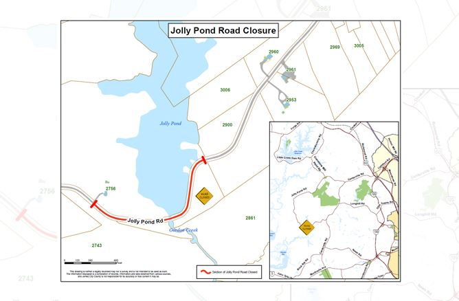 Jolly Pond Road Closure Map Final