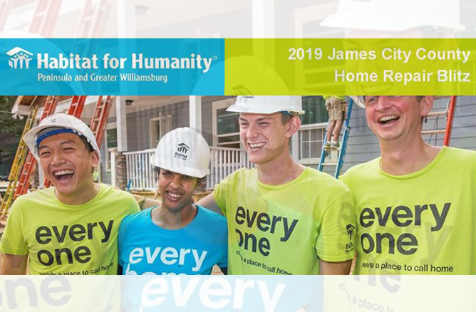 Habitat for Humanity Peninsula and Greater Williamsburg 2019 James City County Home Repair Blitz