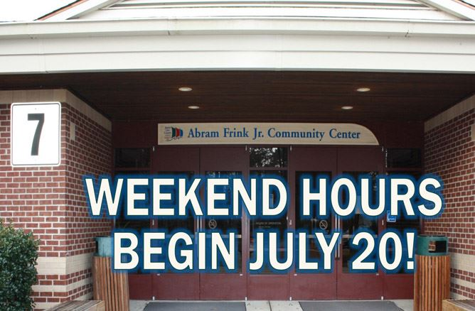 Frink Open Weekends Flash