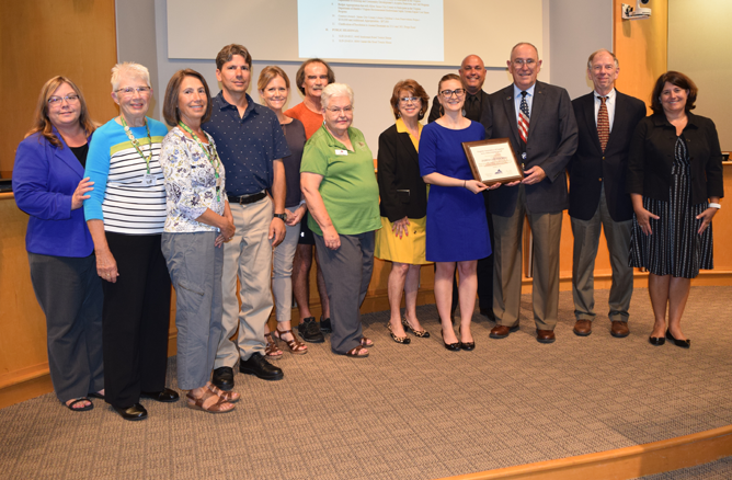 Wildflower Beautification Award Presentation with Board of Supervisors