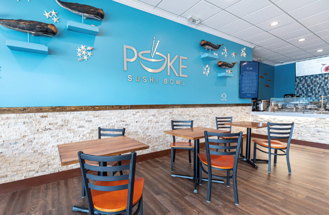 Poke Sushi Bowl interior