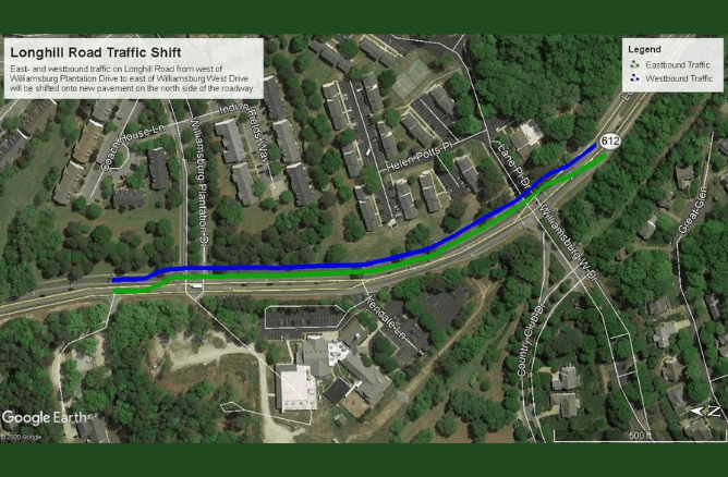 Map of Longhill Road Widening Project