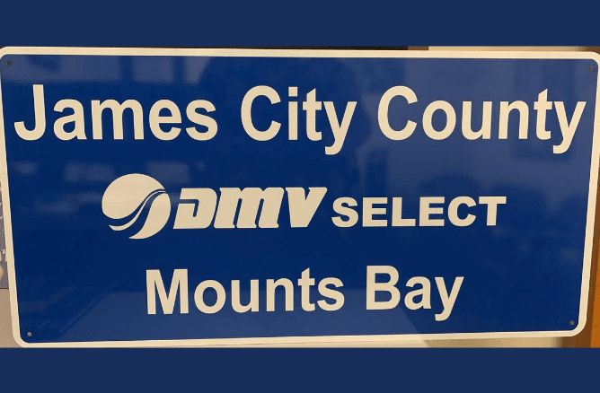 Sign for DMV Select Mounts Bay Road
