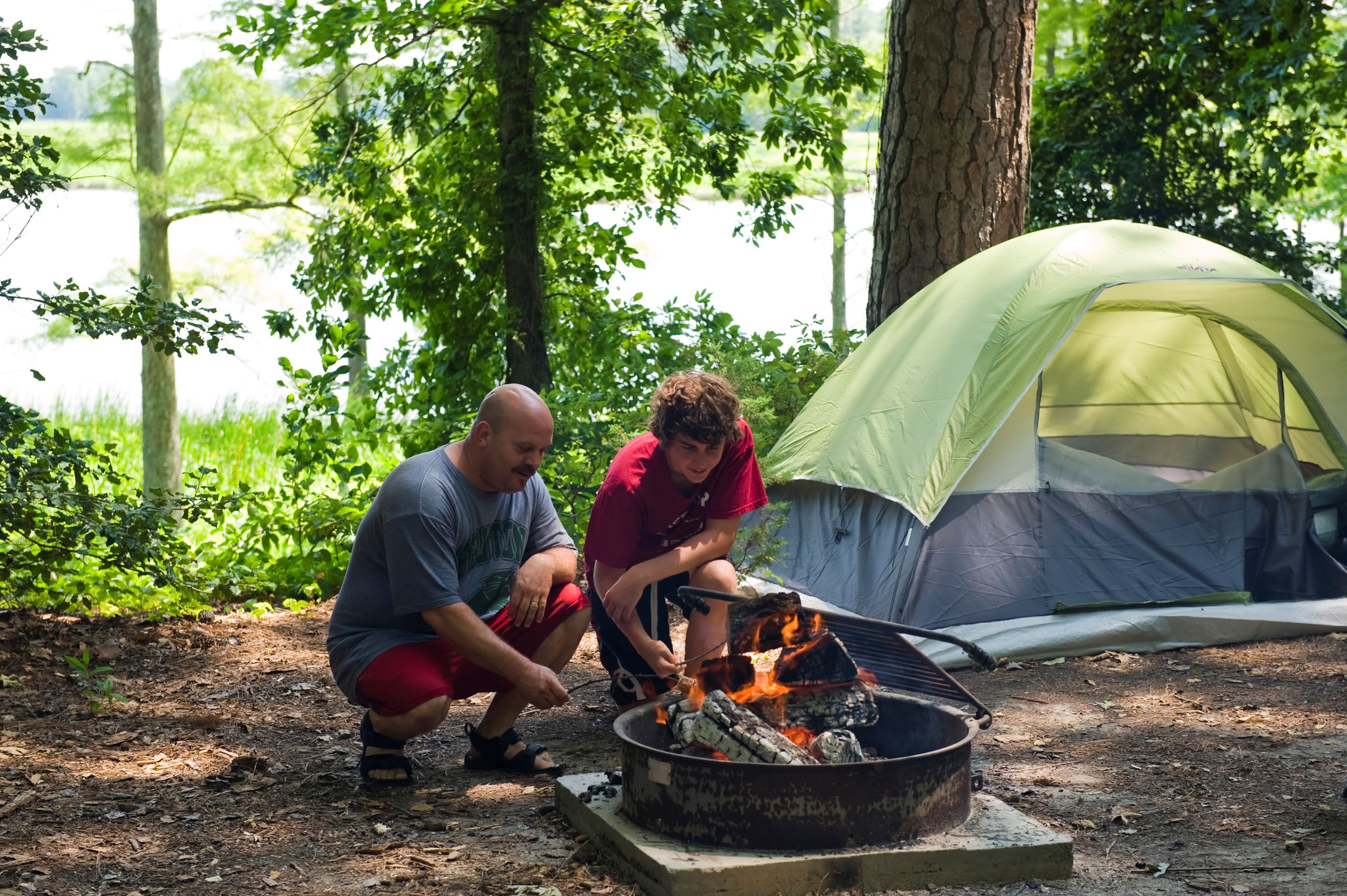 Camping at Chickahominy Riverfront Park