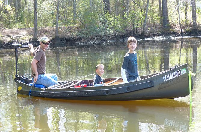 Fishing with the kids at Powhatan Creek Park